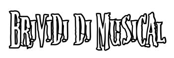 scritta brividi bianca con contorni neri